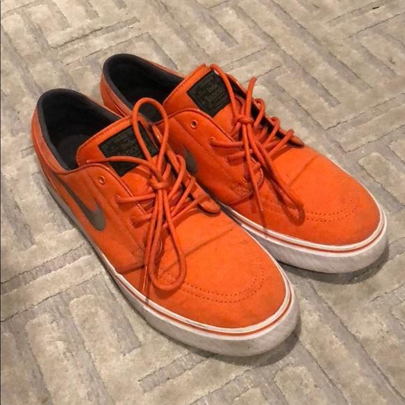orange nike janoski
